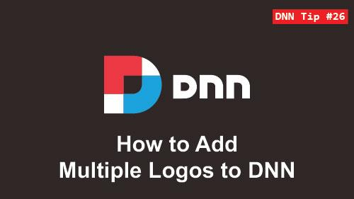 26. How to Add Multiple Logos - DNN Tip of The Week