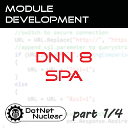 Introduction and Create a SPA project from template in DNN8