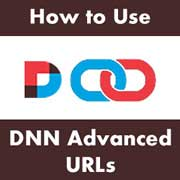 How to Activate and Use DNN Advanced URLs - Introduction and Creating Custom URLs