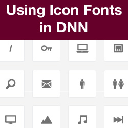 Creating and Implementing an Icon Font for DNN