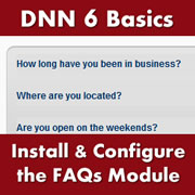 DotNetNuke 6.x Basics - How to Install and Configure the Core FAQ Module