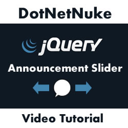 Creating a DotNetNuke jQuery Announcements Slider