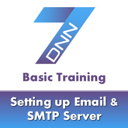 DotNetNuke 7 Basic Training - How to Setup Email in DotNetNuke 7 (SMTP Settings)