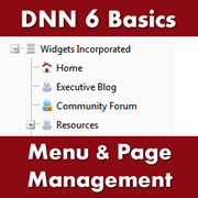 DotNetNuke 6.x Basics - Organising Your Menu and Working with Page Management