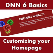 DotNetNuke 6.x Basics - How to Customize the Default DNN6 Homepage