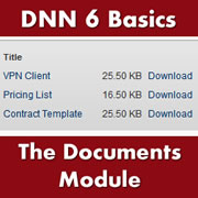 DotNetNuke 6.x Basics - How to Use the Documents Module