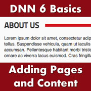 DotNetNuke 6.x Basics - Creating Pages and Content