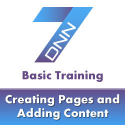 DotNetNuke 7 Basic Training - How to Create New Pages and Content in DotNetNuke 7
